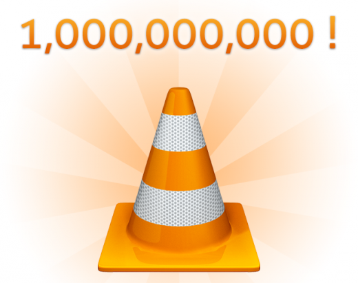 1billion 520x411 Popular media player VLC has been downloaded over a billion times