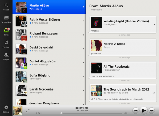 Inbox 520x379 The wait is finally over: Spotify finally launches its new iPad app