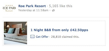 Screen Shot 2012 05 02 at 2.53.12 PM Facebook Offer from a small Irish hotel snapped up by 28,000 users in 24 hours