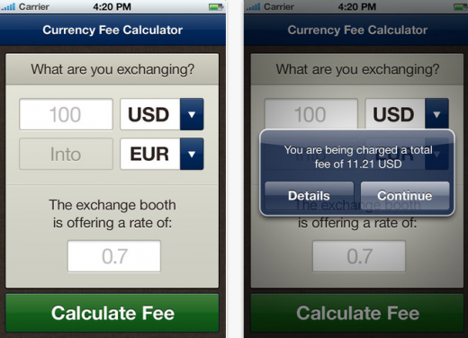 Screen Shot 2012 05 24 at 5.30.20 PM 520x376 This iPhone app makes sure you dont get ripped off by those airport exchange booths