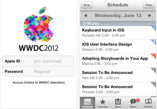 Screen Shot 2012 05 29 at 14.39.39 520x363 Apple pushes live WWDC 2012 schedule and iOS app, announces June 11 keynote