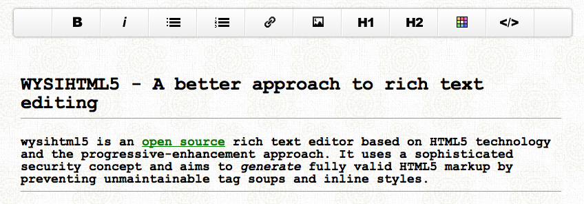 Screen Shot 2012 05 30 at 1.03.28 PM WYSIHTML5: An open source rich text editor based on HTML5