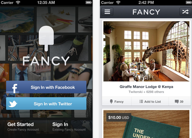 Screen Shot 2012 05 30 at 11.09.35 AM The Fancy launches new iPhone app that pushes 1 click purchases as it nears 1M users