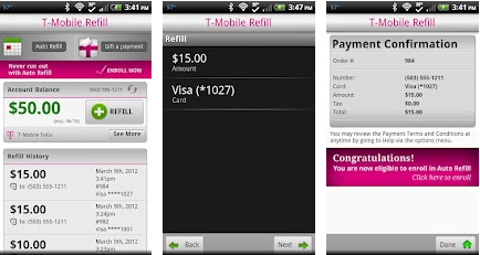 TMOB T Mobile USA officially launches a pay as you go refill app for Android devices