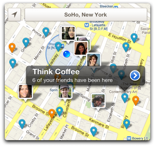 allnew4sq 520x494 Foursquare teases major redesign with a sneak peek of its brand new maps
