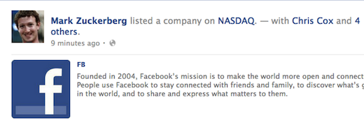 fbst1 After the bell was rung, Mark Zuckerberg posted this epic Facebook status update