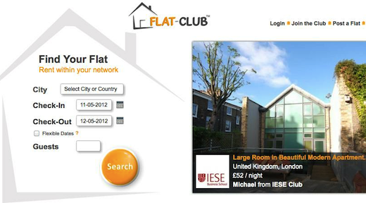 flat Flat Club leverages trust, social networks to facilitate short term letting; lands funding