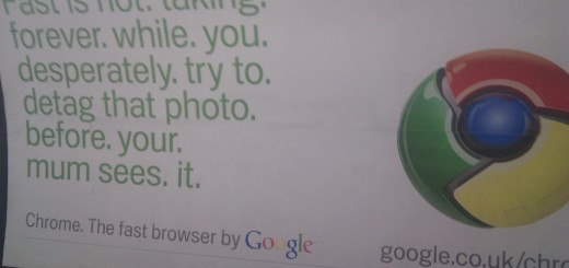 google chrome ad
