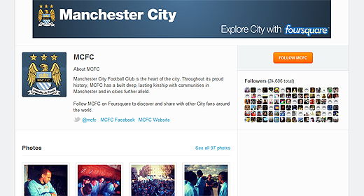 mancity4sq Man City Football Club furthers digital engagement as it partners with Foursquare