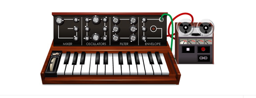 moogledoodle520 This clever hack allows you to add MIDI files of your own choice to the Moog Google doodle