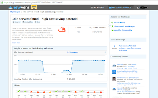 newv1 Newvem offers insights into your Amazon Web Services usage, raises $4m from Greylock, Index, Eric Schmidt