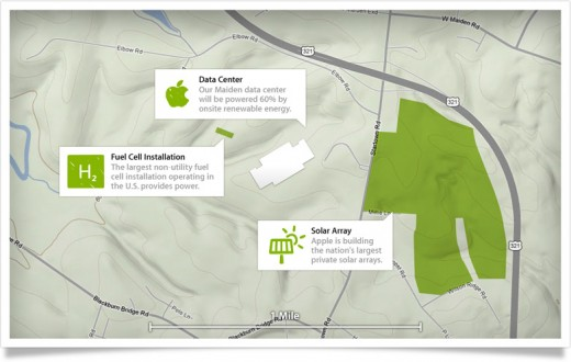 onsite map 520x330 Apple gets approval for 20MW solar farm, will power iCloud data center on 100% renewable energy