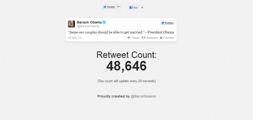 retweeting obama 520x246 Incredible, Obamas same sex marriage tweet close to 50,000 RTs in 7 hours