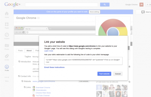 C.1 520x335 Google makes it easier to link your website to your Google+ page