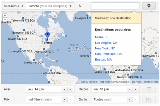 GFR 520x344 Google rolls out Flight Search for Canadian airports
