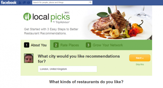 Screenshot 14 520x280 TripAdvisor relaunches Local Picks Facebook app, for restaurant tips from friends and locals