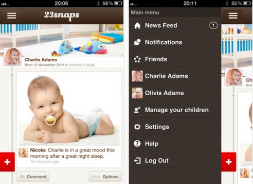 a 520x379 23snaps: A sweet, private social networking app for parents