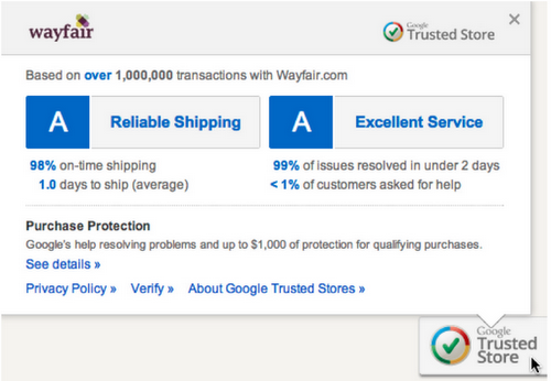 badge and report card Google opens its Trusted Stores program to all U.S. merchants