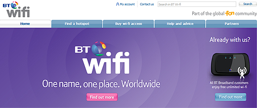 btwiifi520 BT combines its UK Openzone and Fon networks to create BT Wi fi