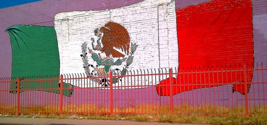 mexican flag mural by ms phoenix