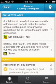 plugins replies1 220x330 Foursquare now includes other apps inside its own, adding context to your location