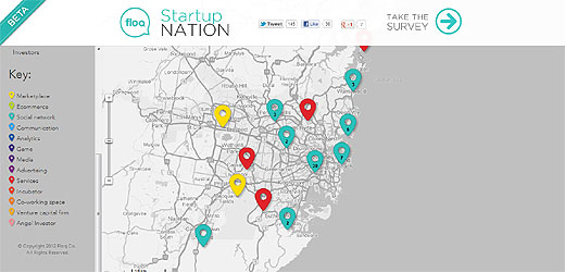 startupnation1 Floq map of Australian tech startups shows whats up down under