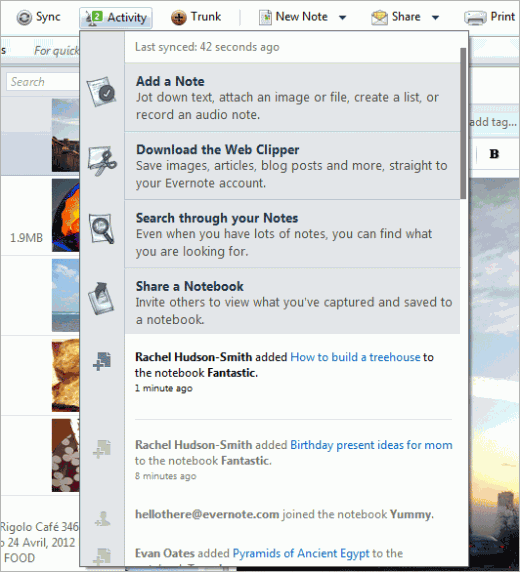 windows activity 520x572 Evernote for Windows and Web Clipper for Chrome get brand new features in todays updates