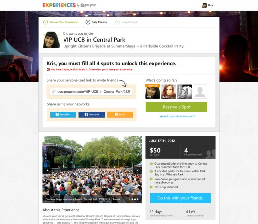 3 Personalized Offer Link 520x452 GroupMe launches Groupon like service to help you plan, discover and pay for your night out