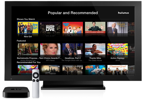 AppleTV hulu plus1 e1343743066977 Hulu Plus lands on Apple TV today
