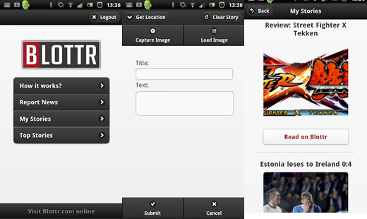 Blottr Citizen journalism site Blottr releases native Android app for reading and newsgathering