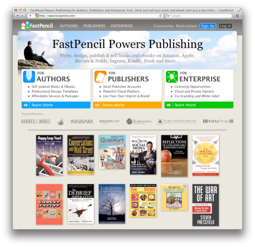 FastPencil screenshot 520x504 Self publishing platform FastPencil inks partnership with Barnes & Noble