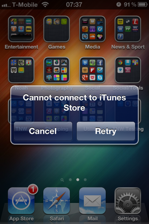 IMG 3389 520x780 Apples iOS App Store goes down for many across the world [Updated with workaround]