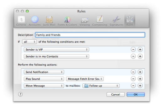 Mail VIP Rules 520x333 TNW Review: OS X 10.8 Mountain Lion