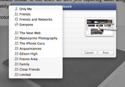 Safari Sharing Facebook Integration TNW Review: Safari 6.0 is the best version of Apples browser yet