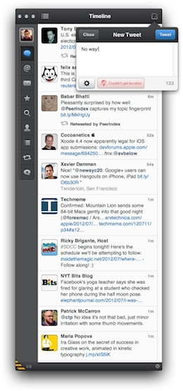 Screen Shot 2012 07 11 at 8.21.53 AM The hotly anticipated Tweetbot comes from iOS to the Mac as a free public alpha