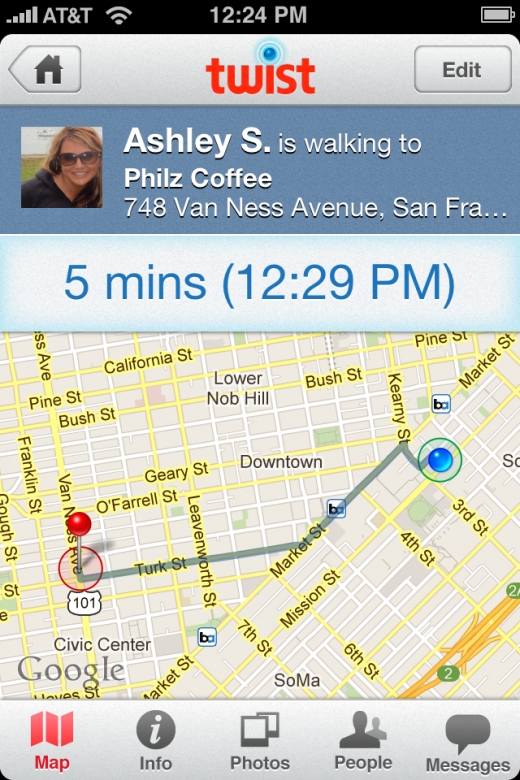 activeTwist 6JUL 520x780 With a $6 million Series A, Twist for iOS wants to ensure youll never wait for someone again