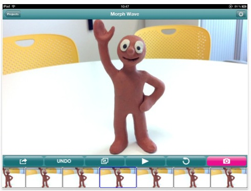 animate it morph wave Aardmans Animate It app lets you create your own stop motion animation videos