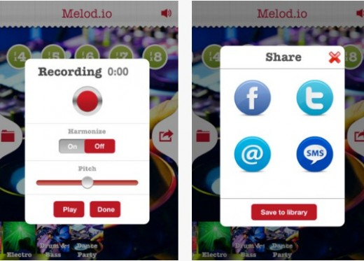 b1 520x373 Melod.io lets you record and send personalized audio messages set against music
