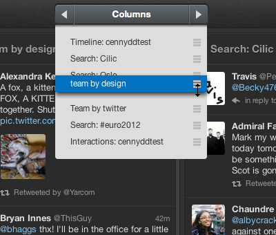 column nav reorder.png Tweetdeck 1.5 gets updated with speedier column browser, gesture control and more