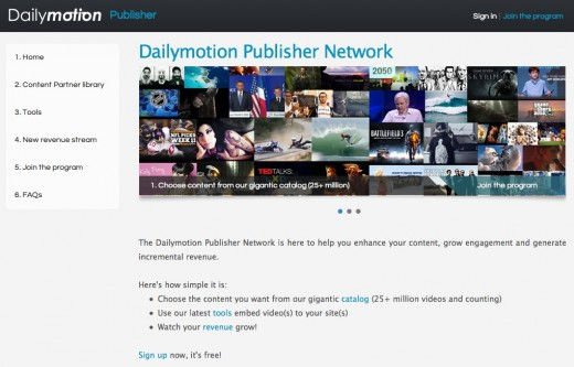 dailymotion publisher network 520x333 Yahoo has closed a syndication deal with video streaming platform Dailymotion