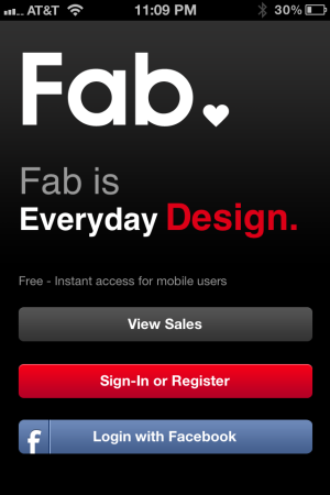 fabfb Social shopping site Fab upgrades mobile experience for its 5.5m users with Live Feed and more, adds Facebook Connect
