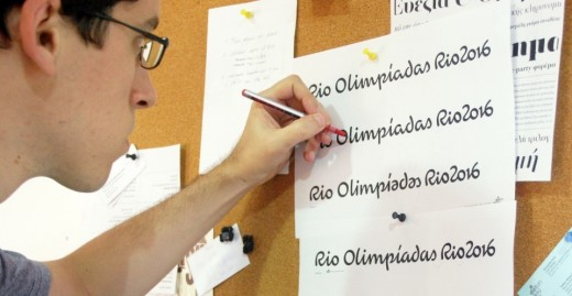 fernandocaro 520x269 Check out the beautiful custom typeface for the Rio 2016 Olympics