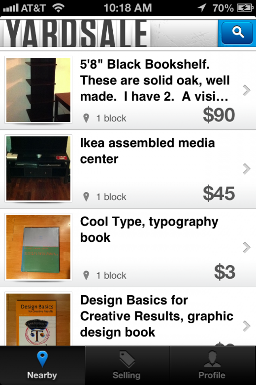 photo 1 520x780 Yardsale for iOS might be the quickest way to sell all of the stuff sitting around your house