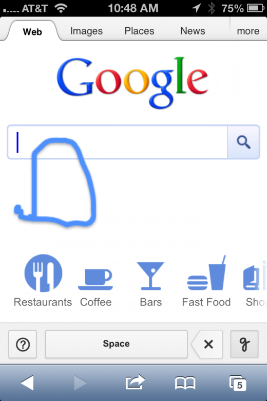 photo 28 520x780 Google introduces Handwrite, letting you write your mobile search query with your finger