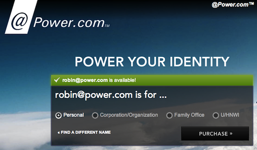 powercom Power.com re emerges as an email service, charges a mere $7,576 for your own @power.com address
