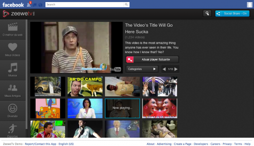 zeeweTV FB screen 520x300 Zeewe TVs HTML5 social video platform reaches 1 million users in one month