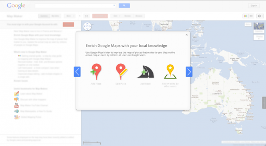 AU MM 520x286 Google Map Maker finally launches to Australian users