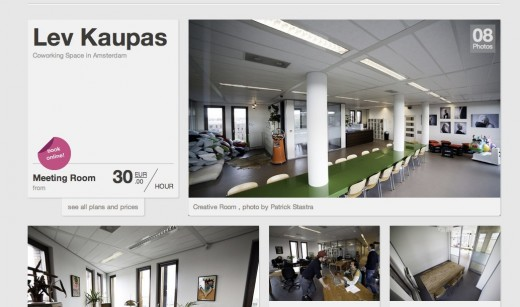 Coworking in Amsterdam Lev Kaupas one of the best office spaces in town 520x307 ShareDesk launches its marketplace for spare desks and office spaces