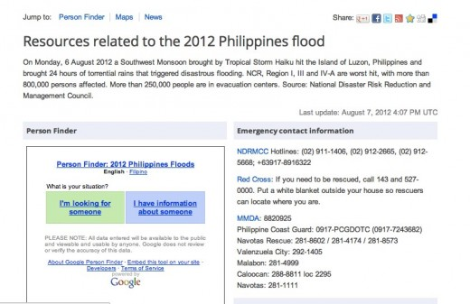 Google Chrome 3 520x337 Google re launches its People Finder tool to assist those dealing with the Philippines floods