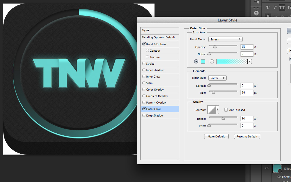 TNWTron SC16 How to create an awesome Tron inspired app icon